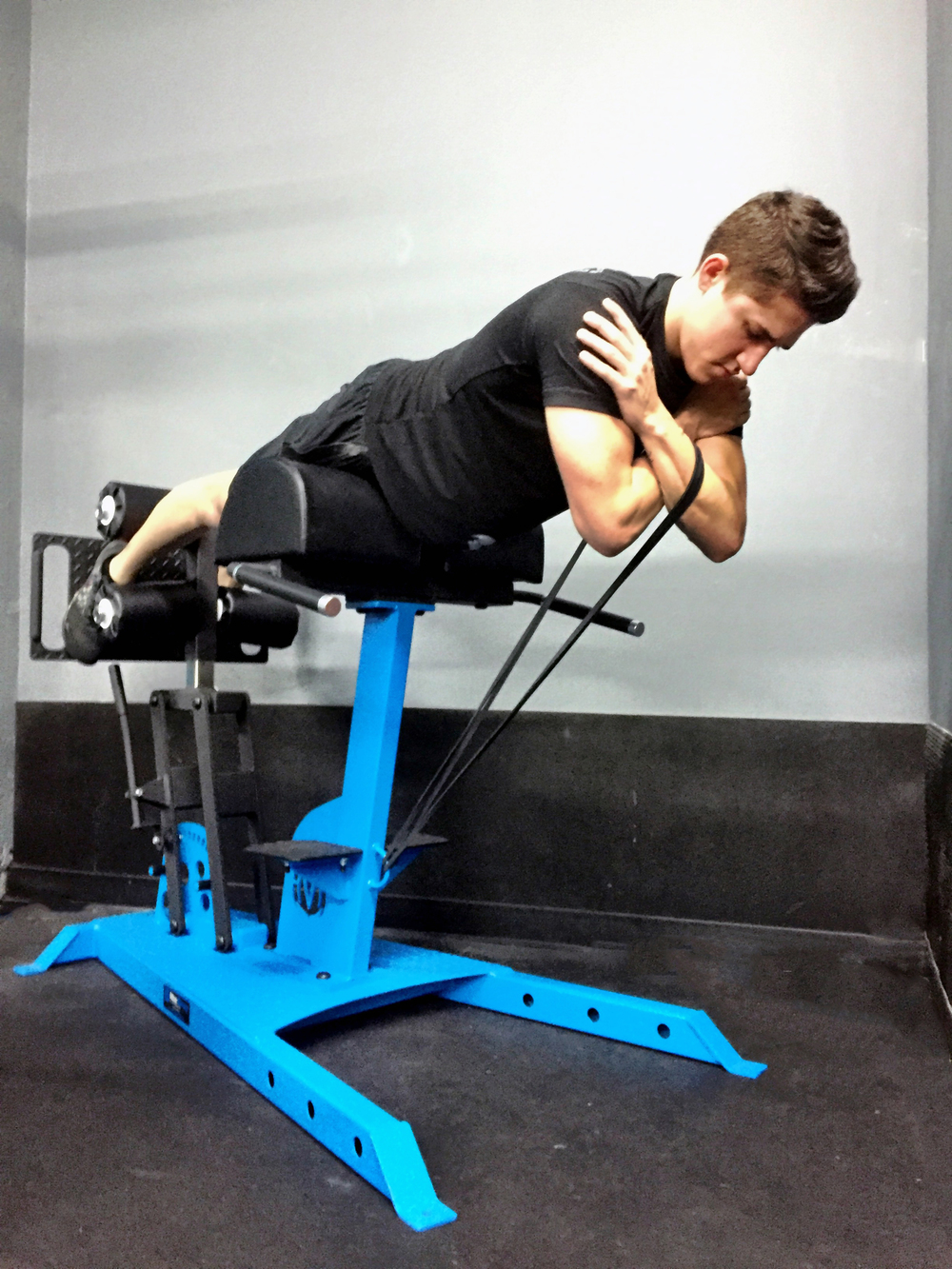 MoveStrong Glute/Ham bench with Resistance Band anchor points