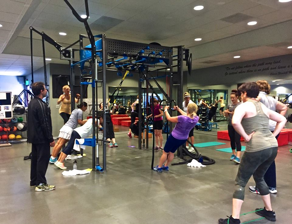 Group functional fitness workout on MoveStrong FTS