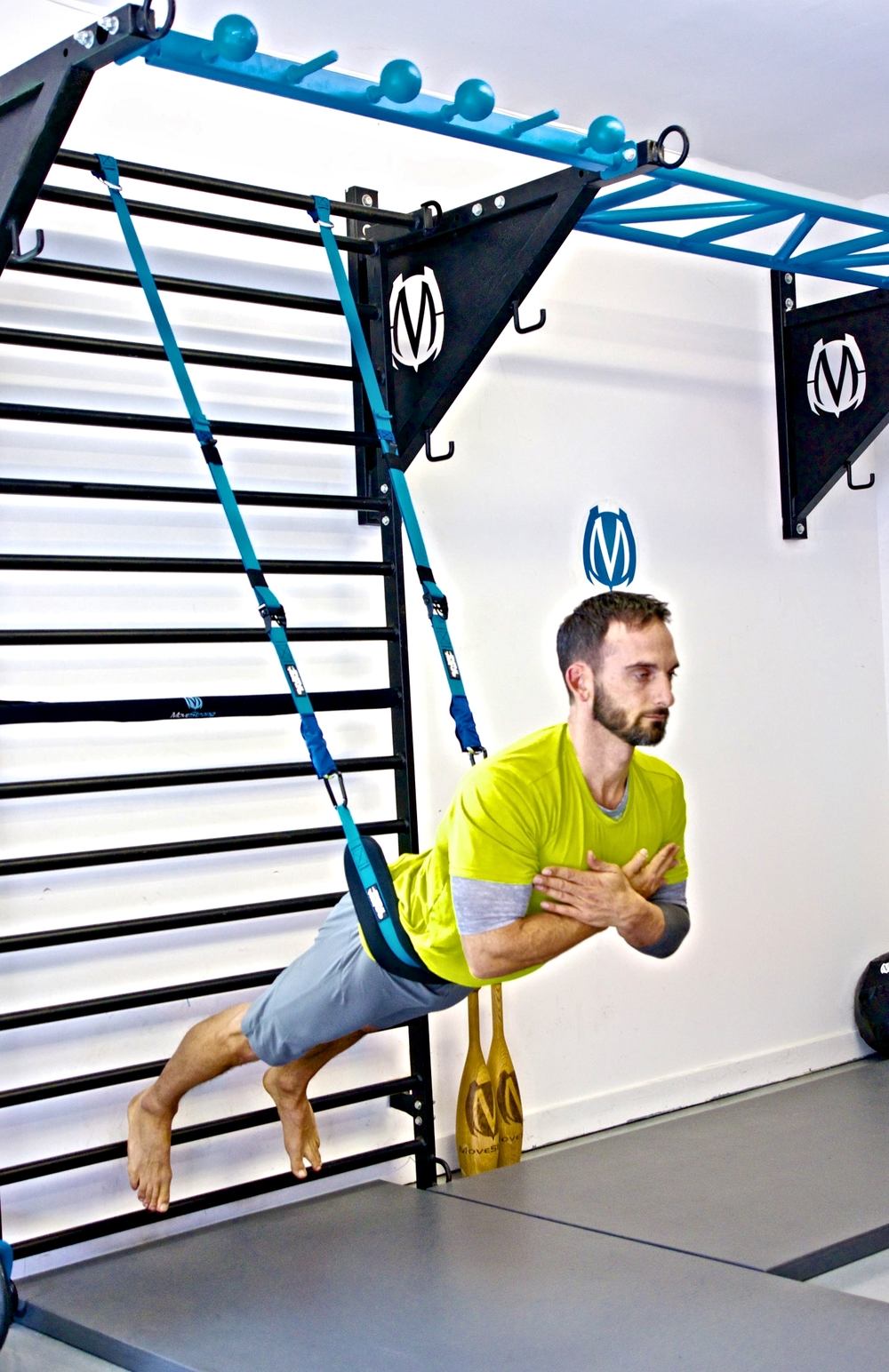 Elevate Trainer used with MoveStrong Stall Bars