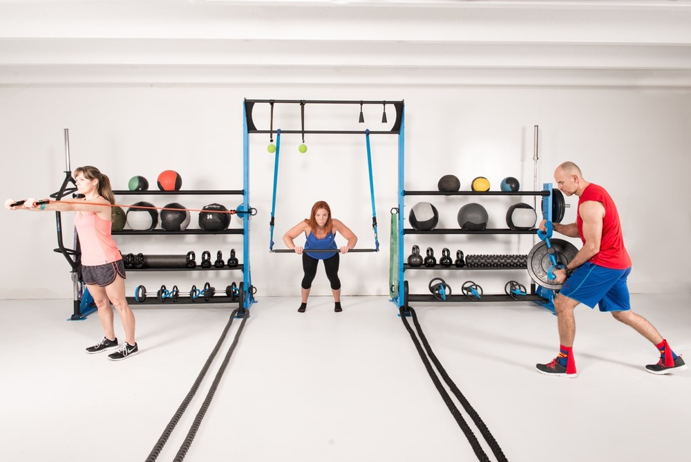 Functional fitness training storage rack