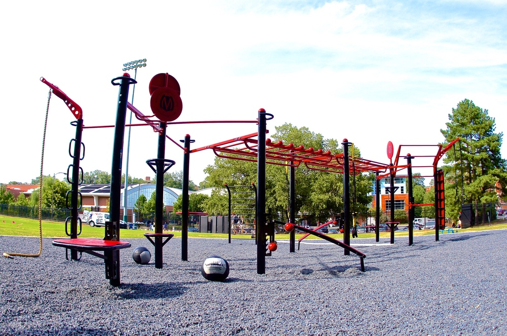 Trex outdoor fitness station