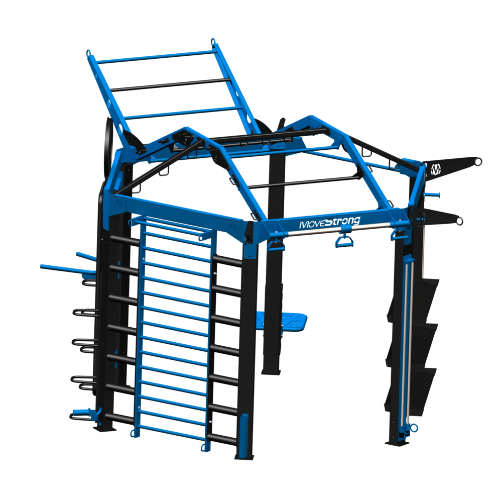 "NOVA-6 FTS with Options:  Create a truly unique & challenging training station with options  11'5"" L x 14'8"" Wx 10'4"" H ( with tiered climber bar at end) *"