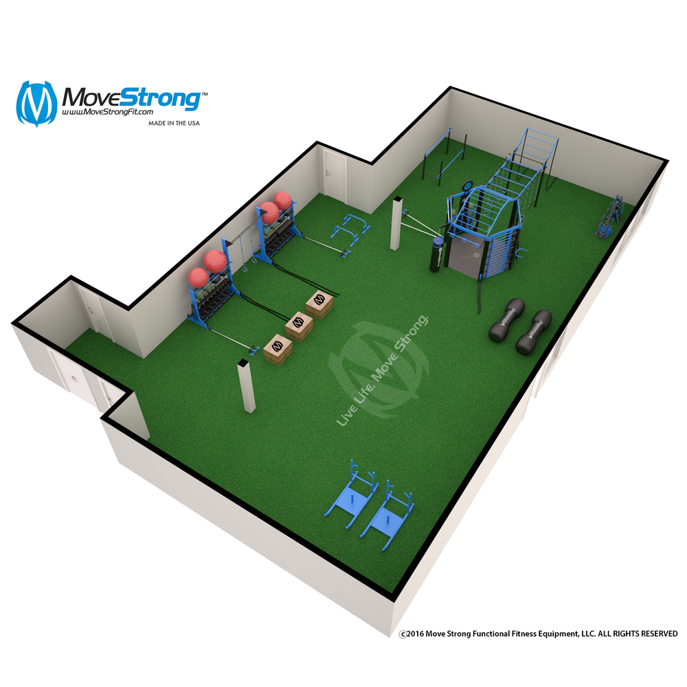 Fitness gym layout floorpan