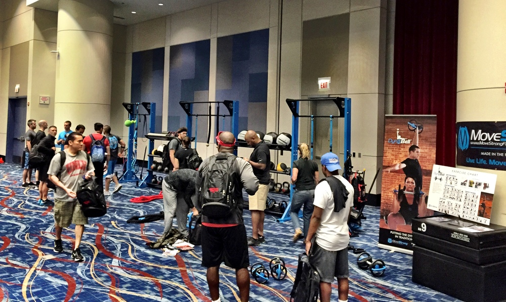 Functional Fitness Summit debut of MoveStrong rack