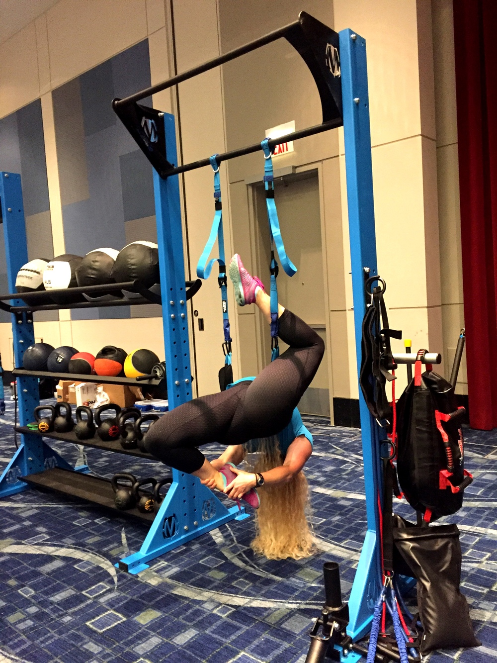 Aerial yoga pose MoveStrong