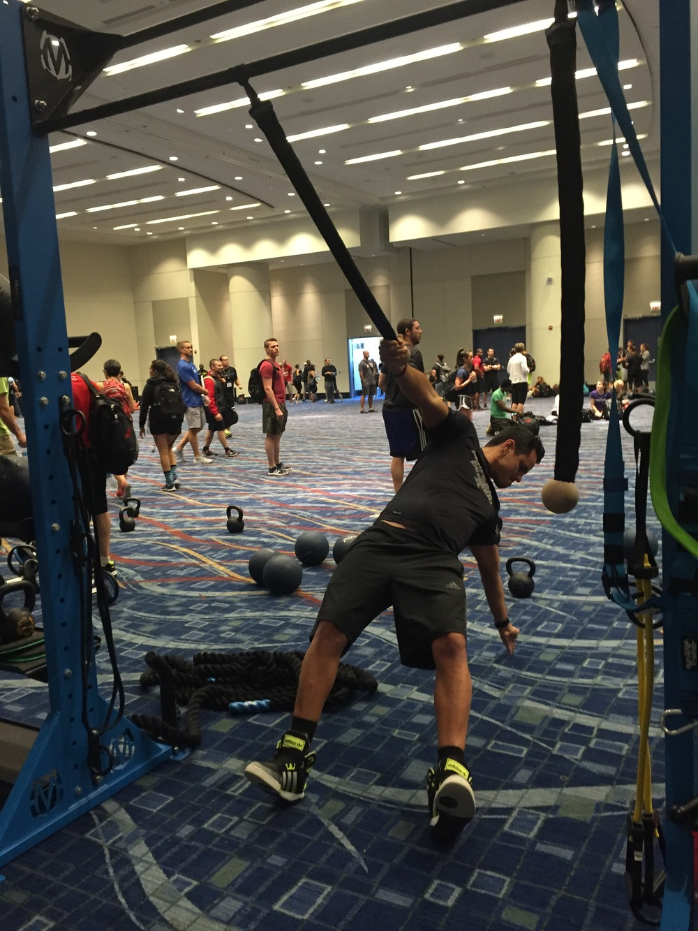 Suspension training with rope grip