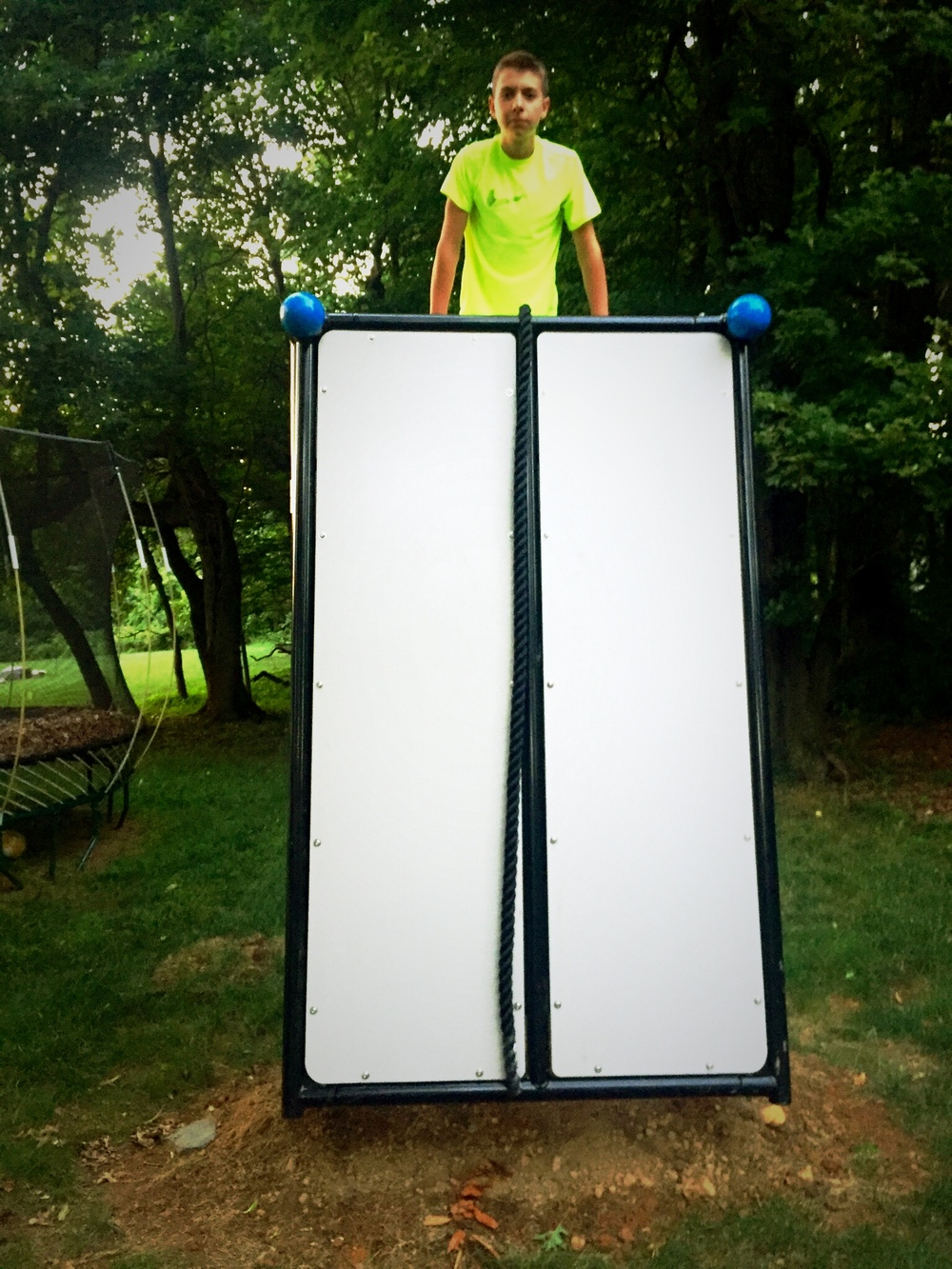 Backyard functional fitness Wall climber