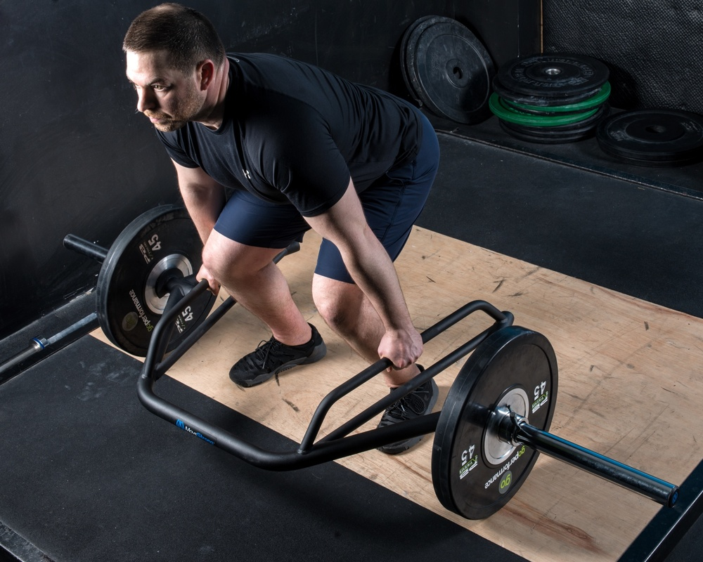 Deadlift with trap dsl bar
