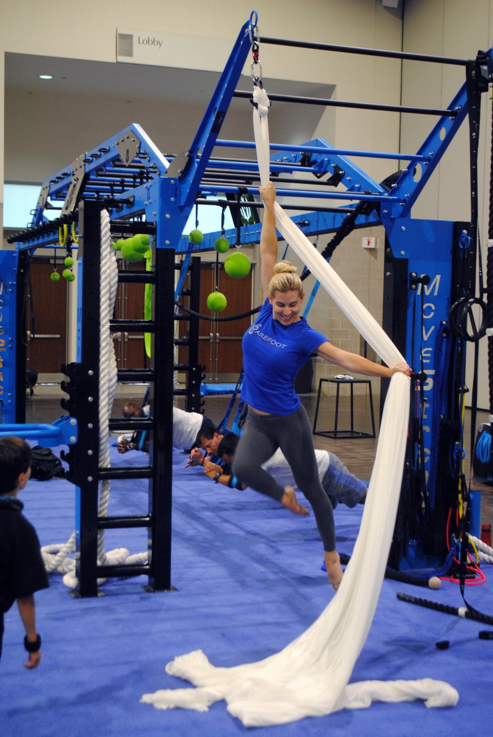 Aerial silks on MoveStrong