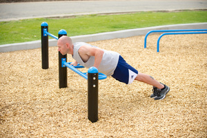 Push Up Bars   with varied height and grips