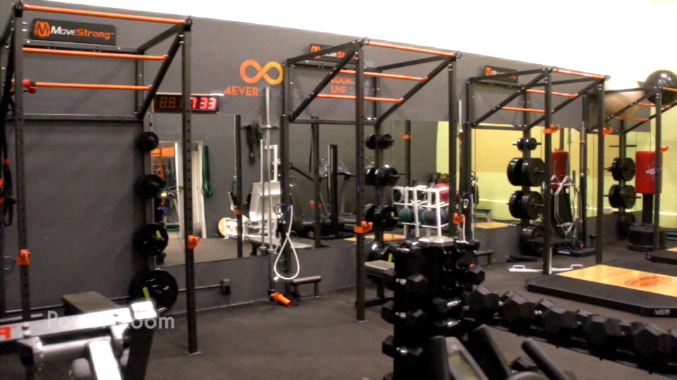 Wall mount fitness training racks