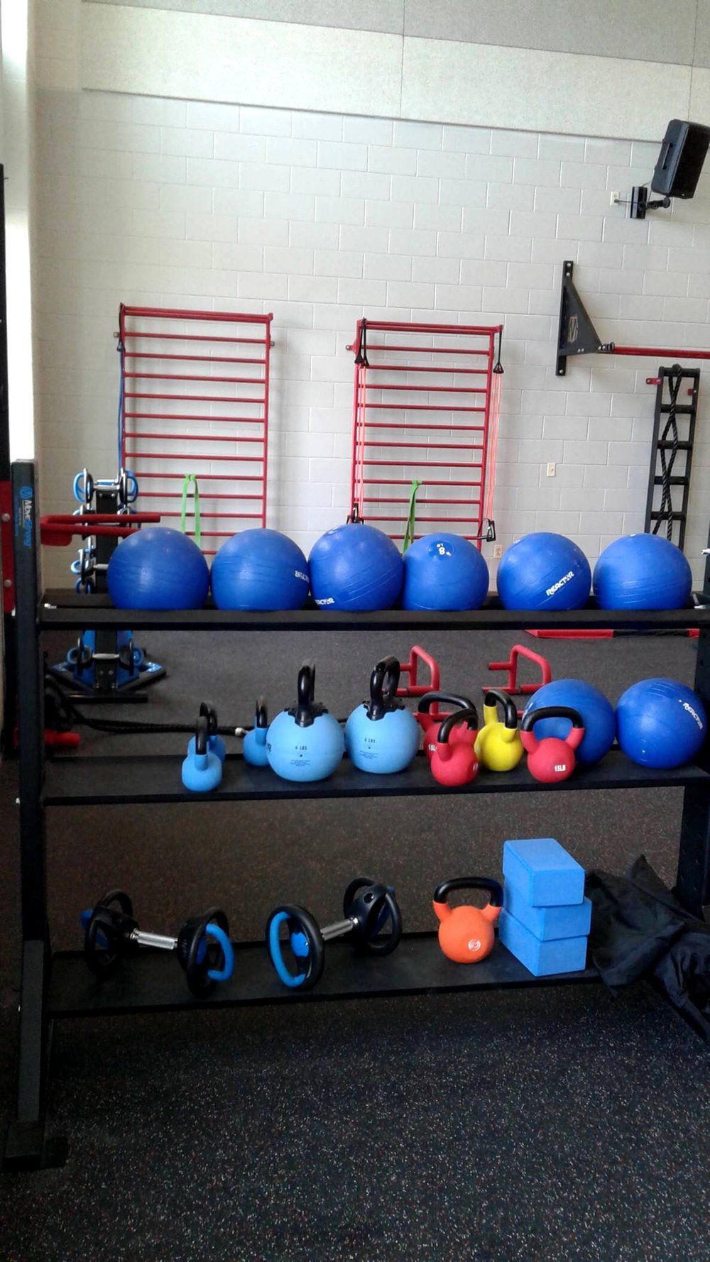 Fitness accessory storage