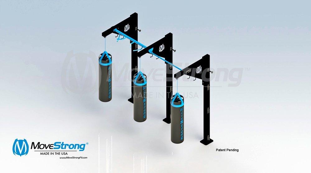 Triple heavy bag stand
