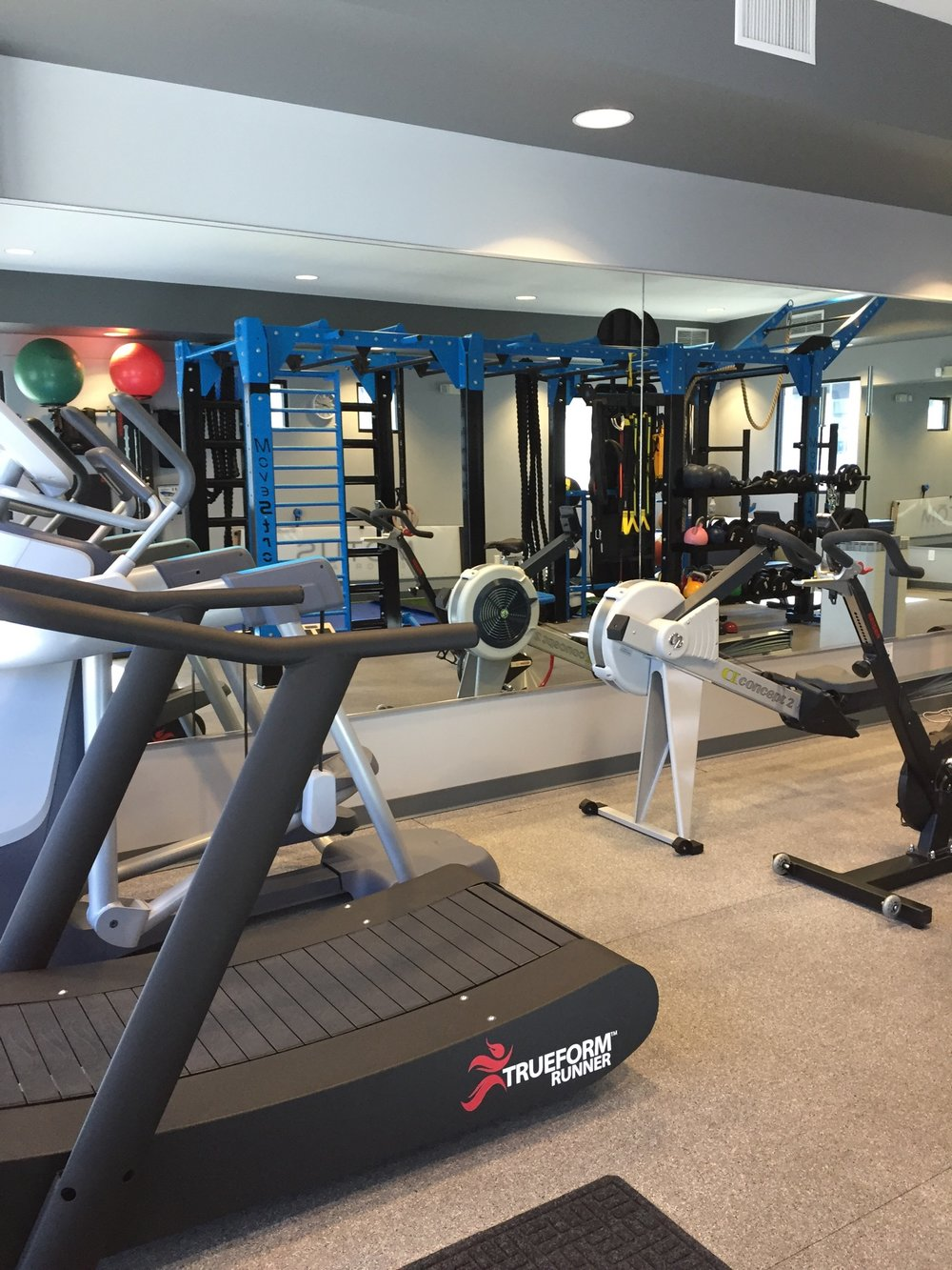 Cardio stations used with MoveStrong