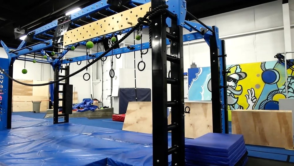 Ninja Warrior training features custom equipment