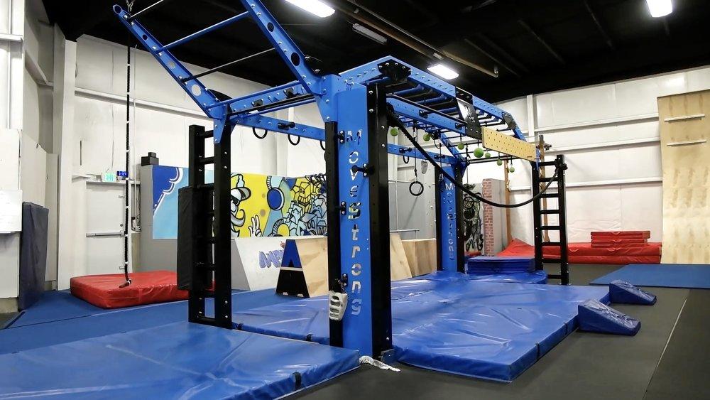 Copy of Ninja Warrior training facility with Movestrong Nova XL