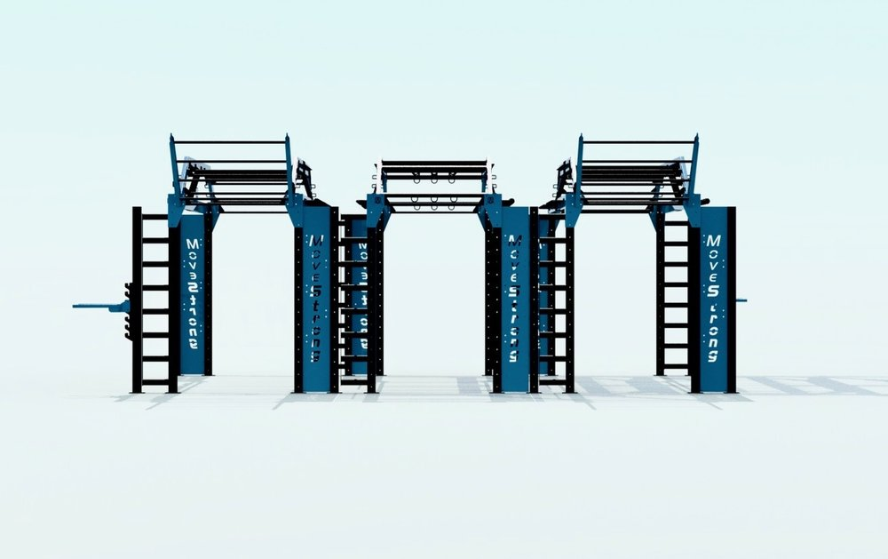Modular Functional Fitness Triple Bridge
