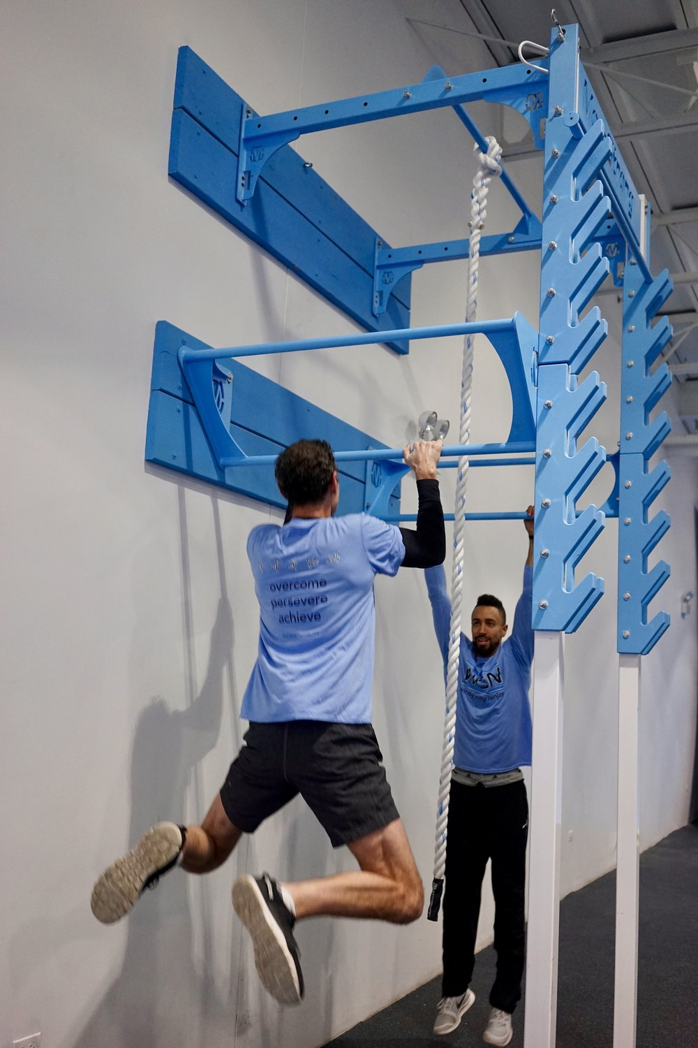 Tiered pull-up bars for practice