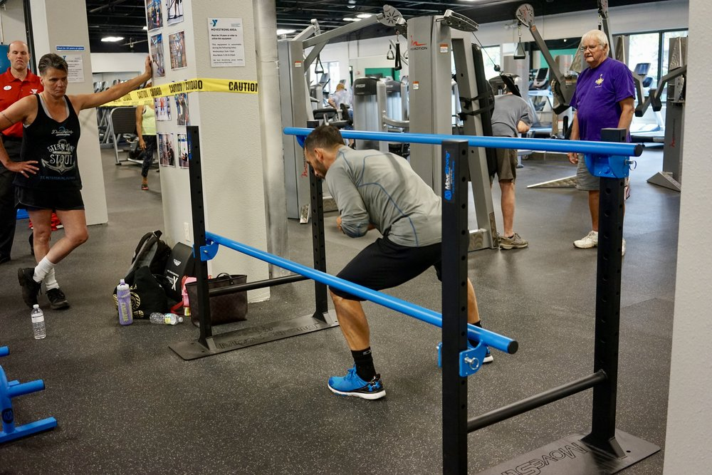 Adjustable Parallel bars mobility drills