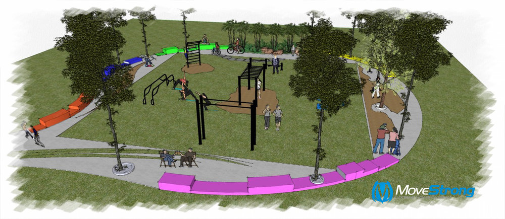 Design layout for outdoor fitness