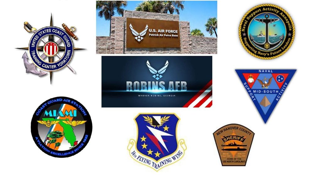 Just some of our Military and Law Enforcement Customers