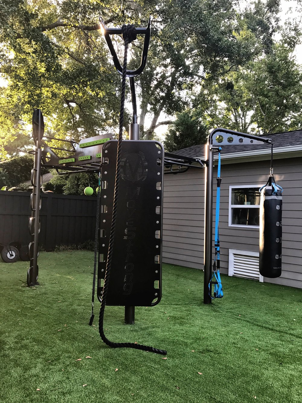 Backyard outdoor gym