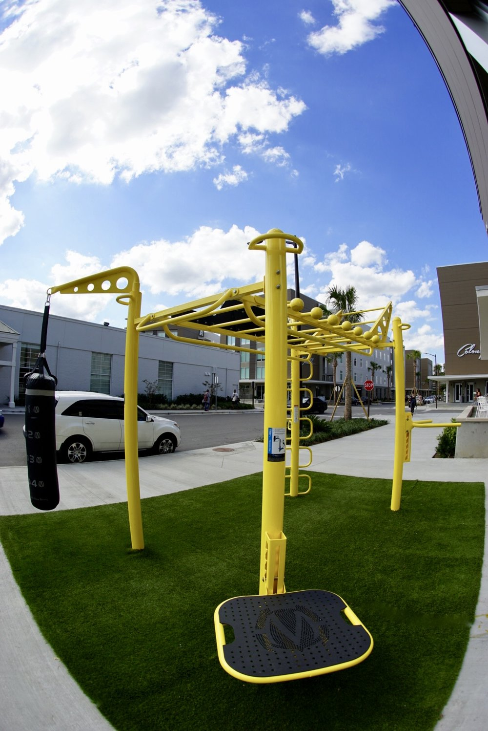 Group Fitness Equipment Outdoors
