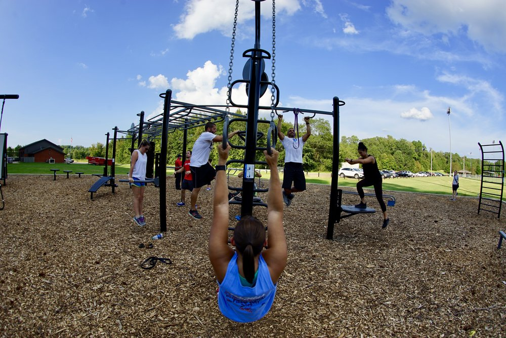 Team training outdoor fitness equipment