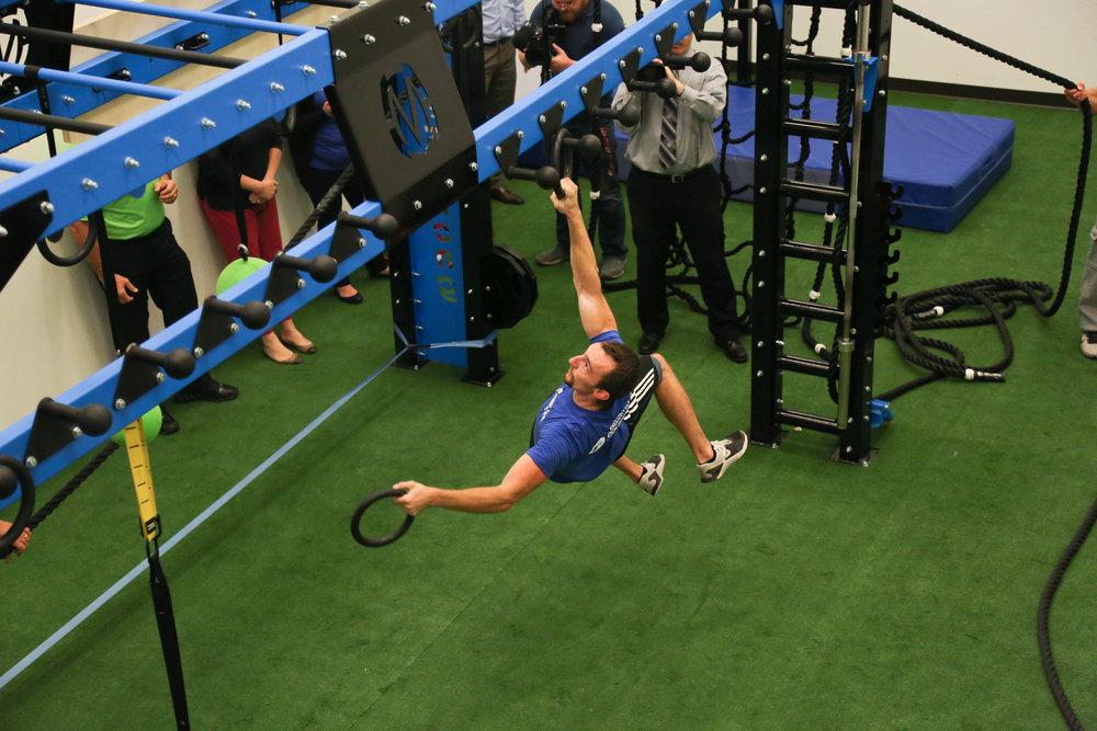 MoveStrong ring toss ninja training