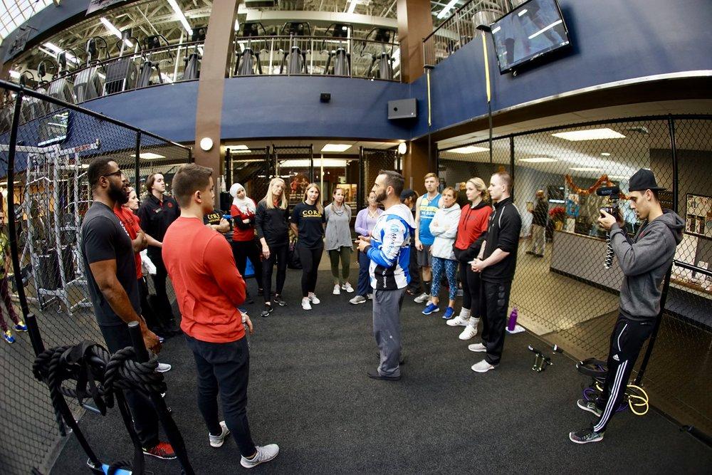 Golds Gym staff training