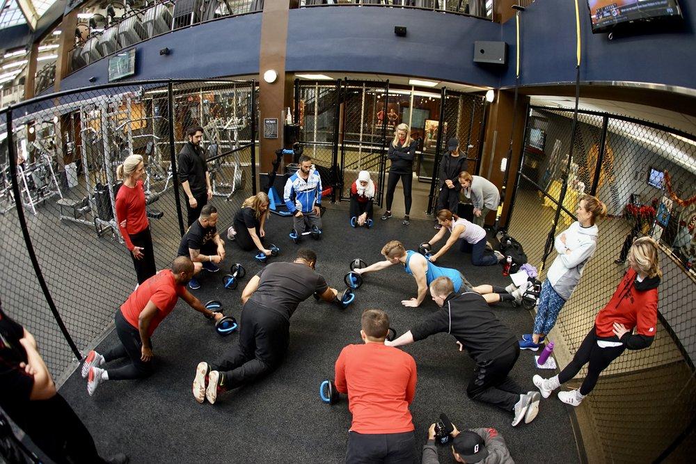 Golds Gym staff DynaBell training