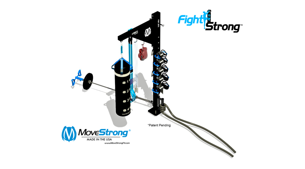 Bag Stand with Dumbbell Storage
