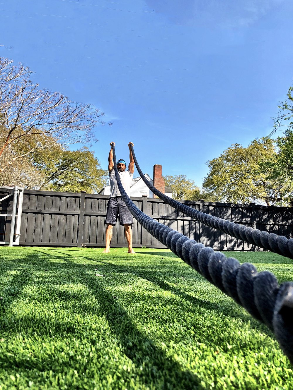 Battle Rope Press and Hold