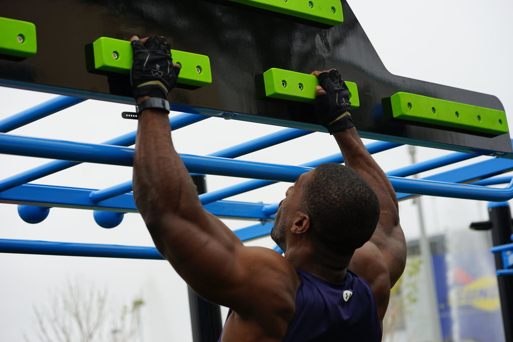Ninja Warrior Cliff Hanger Outdoor Fitness Equipment