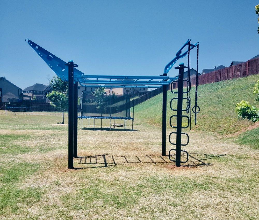 Backyard Monkey Bars and Gym