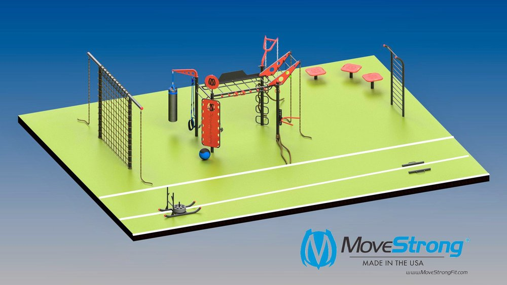 MoveStrong FitGround University Outdoor Gym