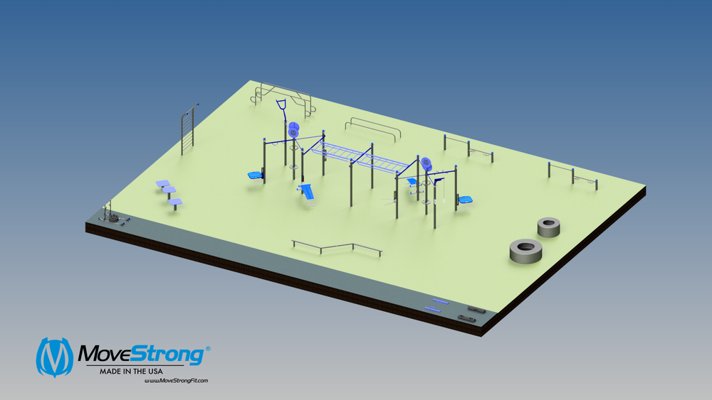 School Outdoor Gym Layout