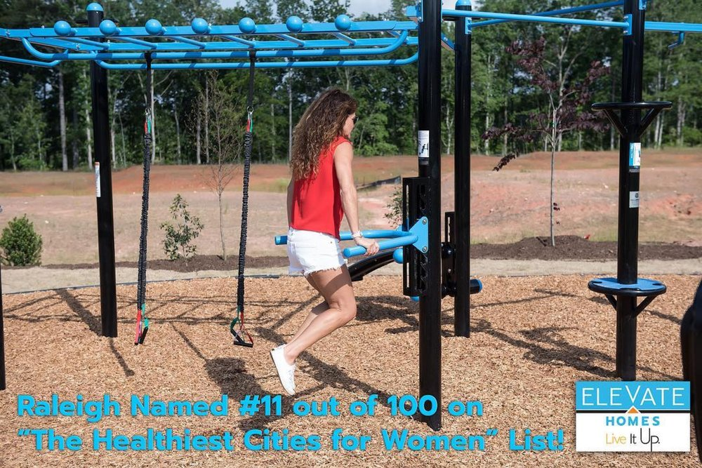 Elevate Homes Outdoor Fitness Amenity