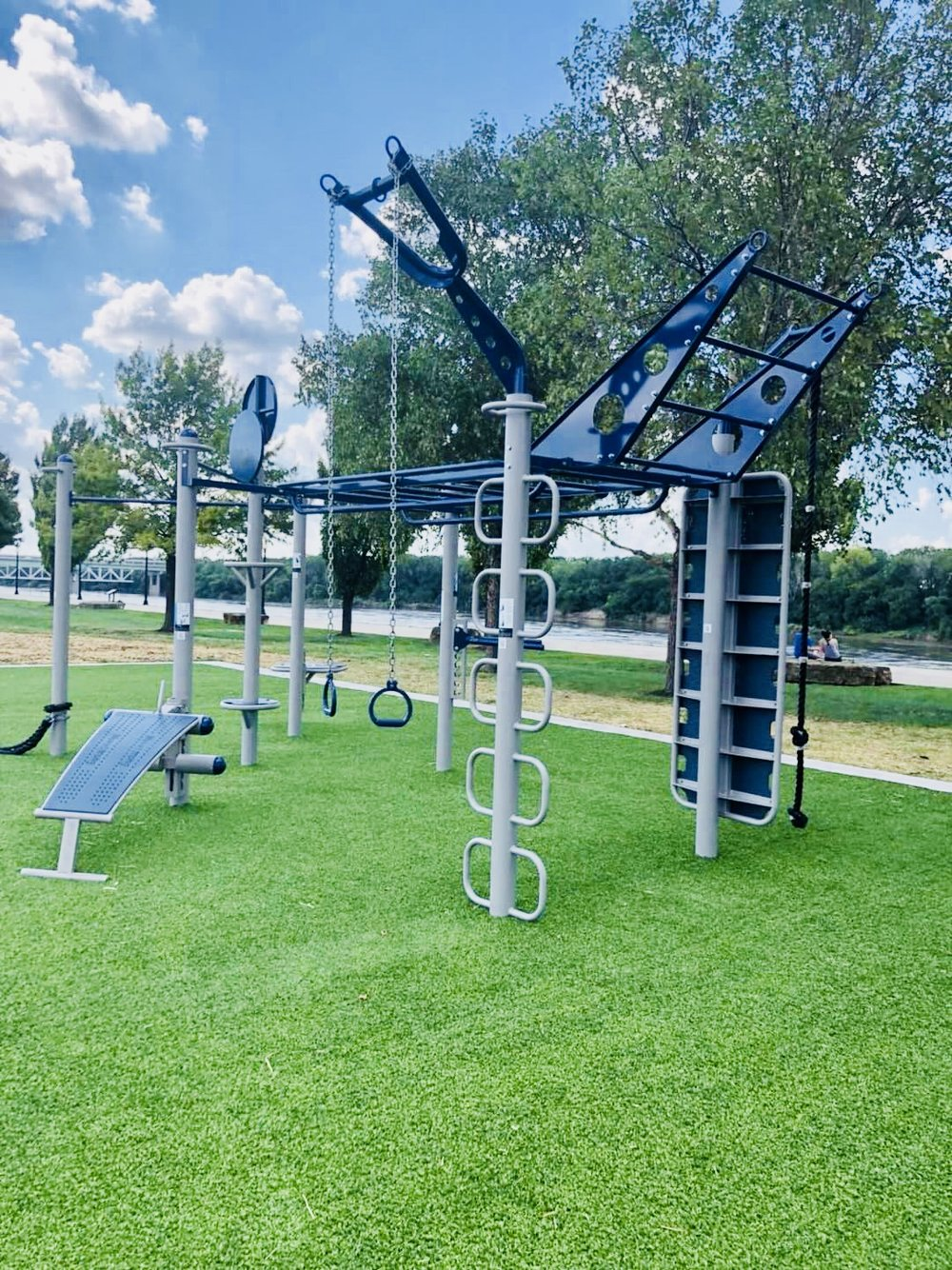 Custom Outdoor Fitness layout