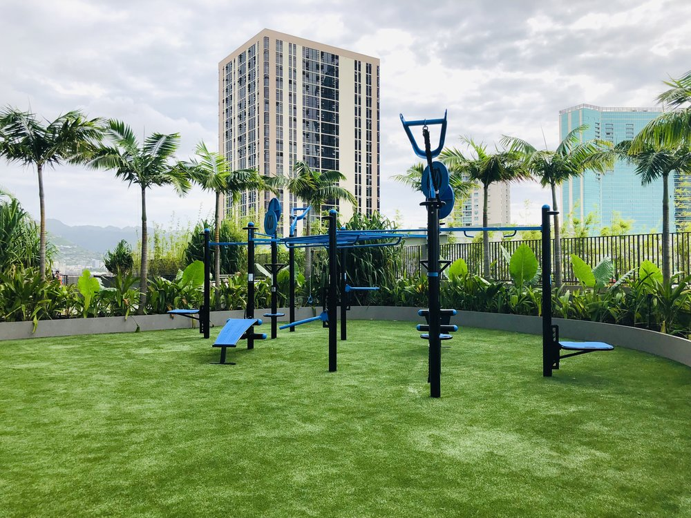 Outdoor Gym Fitness Area Resort