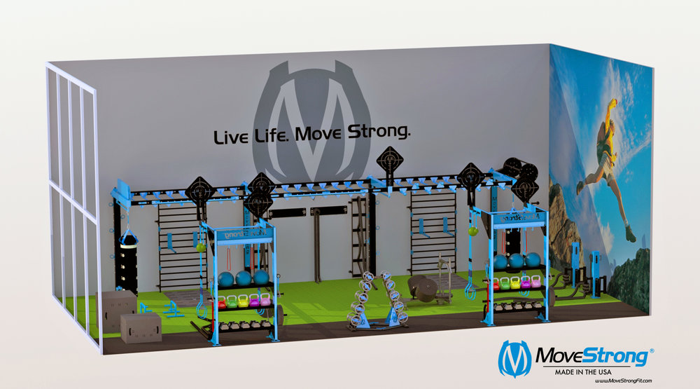 Health Club design for Functional Training room