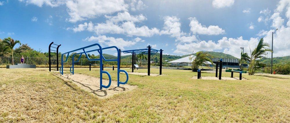 Outdoor functional fitness equipment Caribbean