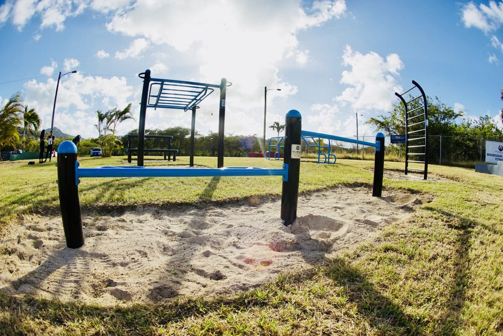 Outdoor Island Caribbean Public Fitness Park MoveStrong