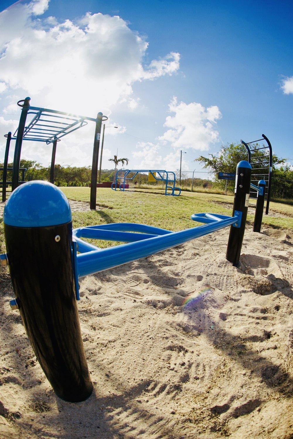 Push-up bars outdoor gym equipment