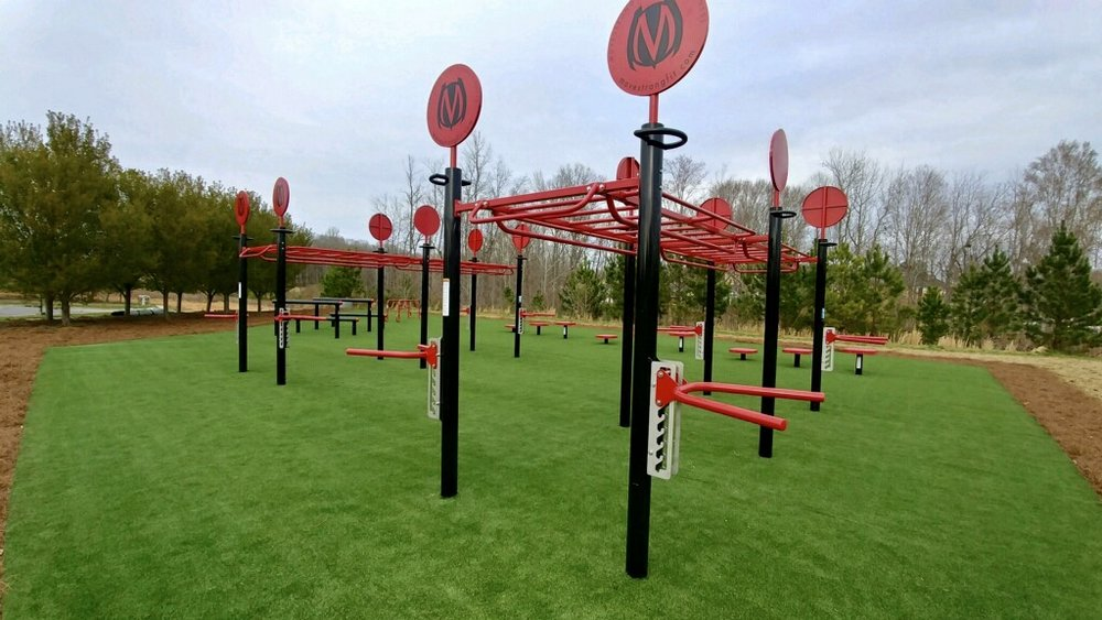 Outdoor fitness corporate park gym