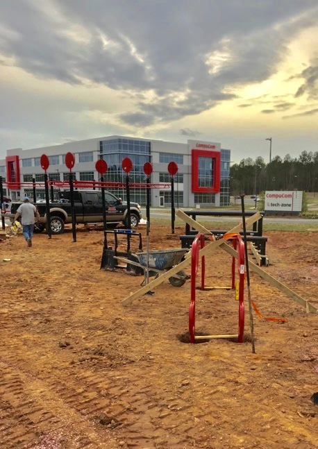 Installation of MoveStrong Outdoor Fitness Equipment