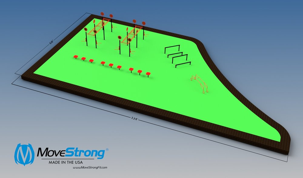 Outdoor Fitness Layout Design