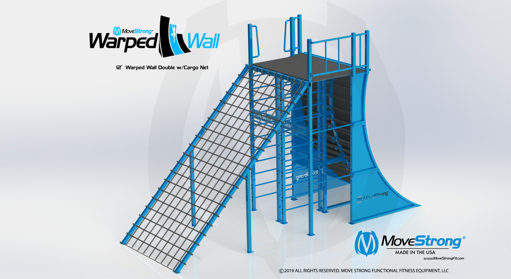 Obstacle Course Warped Wall Cargo Net Combo