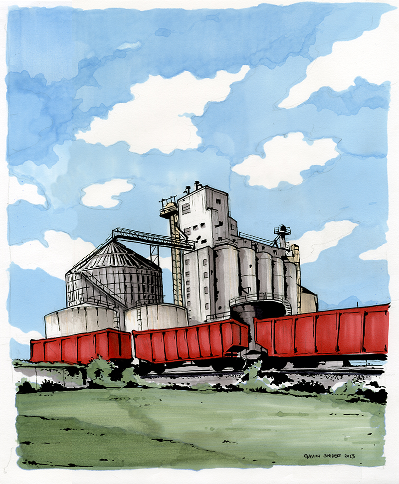 Grain Elevator, East Bottoms