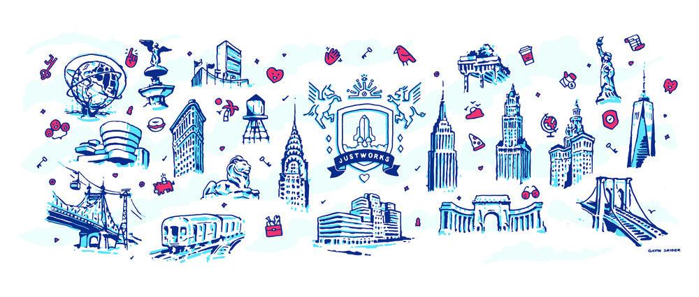 Justworks NYC Mural